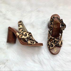 Sam Edelman Ivy Cheetah Block Sandal 6M